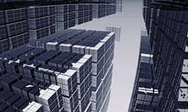 Fractal Cityscape Royalty Free Stock Image