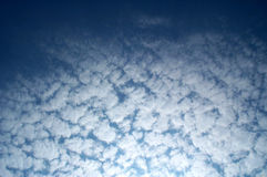 Fractal clouds. In gradient sky stock photos
