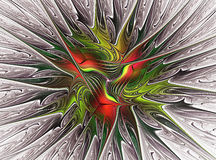 Fractal colorful leaves. Computer generation, image Royalty Free Stock Photos