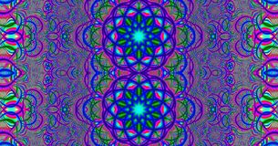 Fractal and colorful psychedelic mandala royalty free stock images
