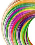 Fractal colorful rainbow arc on a white background, or Royalty Free Stock Photography