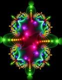 Fractal colorido da simetria ilustração royalty free