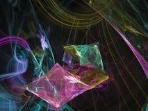 Fractal colorido del marco etéreo dinámico del extracto de Digitaces, diseño de la textura, exclusiva del caos stock de ilustración