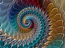 Fractal colorido espiral Stock de ilustración