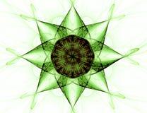 Fractal com estrela; projeto abstrato, fundo Fotografia de Stock Royalty Free