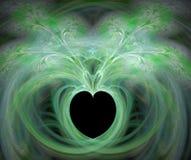 Fractal con el corazón stock de ilustración