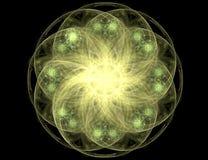 Fractal con la estrella; diseño abstracto, fondo ilustración del vector