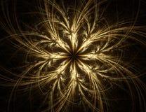Fractal con la estrella; diseño abstracto, fondo stock de ilustración