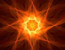 Fractal con la estrella; diseño abstracto, fondo Fotografía de archivo libre de regalías