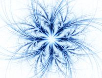 Fractal con la estrella; diseño abstracto, fondo Fotografía de archivo