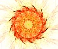 Fractal con la estrella; diseño abstracto, fondo libre illustration