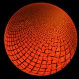 Fractal con a Marte-como el planeta cubierto en cuadrados en diversos tamaños y capas ilustración del vector