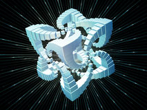 Fractal Cube Stock Images