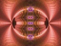 Fractal da chama do rosa, o roxo, o azul e o marrom do ovo ilustração do vetor