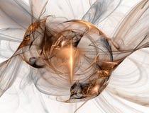 Fractal de cobre ilustração do vetor