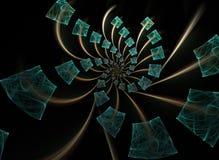 Fractal de espiralamento dos cubos Fotografia de Stock