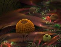 Fractal de la escalera y de la bola Imagen de archivo