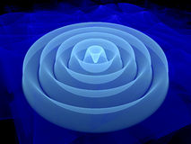 fractal de la forma de onda 3D Foto de archivo