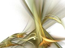 Fractal de oro de los rayos Ilustración del Vector