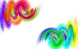 Fractal de regenboogrook van waterverfgolven Royalty-vrije Stock Fotografie