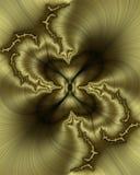 Fractal de seda dourado Fotografia de Stock Royalty Free