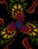 Fractal de Swirly Fotografia de Stock