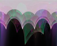 Fractal decorativo digital de la onda de la elegancia del extracto, diseño mágico suave de la plantilla, remolino stock de ilustración