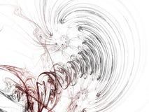 Fractal design. Computer generated 3D image of fractal spiral Stock Photography