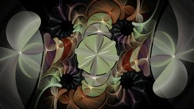Fractal diamond flowers, widescreen. Wide-screen fractal of shape and design Stock Images