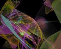 Fractal digital abstracto del efecto hacer la curva creativa, plantilla artística, elegancia, dinámica libre illustration