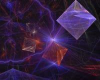 Fractal digital abstracto, dinámica de la creatividad del efecto del elemento de la ciencia de la elegancia de la onda rendir la ilustración del vector