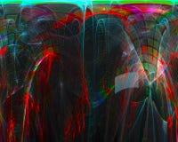 Fractal digital abstracto, diseño de la plantilla de la fantasía de la creatividad de la dinámica de la elegancia de la decoració ilustración del vector
