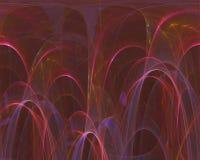Fractal digital abstracto, diseño del paisaje de la plantilla del rizo de la tarjeta del efecto de la elegancia del movimiento de ilustración del vector