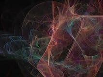 Fractal digital abstracto, diseño etéreo de la fantasía de la energía superficial del estilo futurista ligero del papel pintado,  libre illustration
