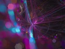 Fractal digital abstracto, diseño etéreo del caos de la energía del estilo futurista dinámico superficial ligero del papel pintad ilustración del vector