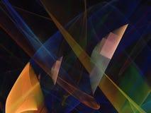 Fractal digital abstracto, diseño etéreo del concepto futurista, partido libre illustration