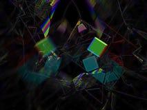 Fractal digital abstracto, diseño etéreo del estilo futurista del modelo del contexto, partido libre illustration