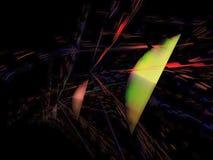 Fractal digital abstracto, diseño etéreo del estilo futurista del papel pintado de la energía del caos de la ciencia, partido libre illustration