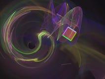 Fractal digital abstracto, diseño etéreo del estilo futurista del papel pintado de la energía del caos de la decoración de la cie stock de ilustración