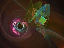 Fractal digital abstracto, diseño etéreo del estilo futurista del papel pintado de la energía del contexto, partido libre illustration