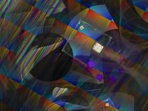 Fractal digital abstracto, diseño etéreo del estilo futurista, partido stock de ilustración