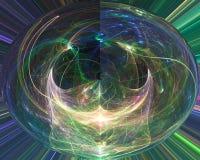 Fractal digital abstracto, ornamento mágico de la imaginación del diseño de la elegancia de la fantasía de la imaginación br ilustración del vector