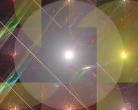 Fractal digital abstracto, ornamento mágico de la imaginación del diseño de la elegancia de la fantasía de la imaginación brillan ilustración del vector