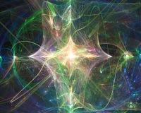 Fractal digital abstracto, ornamento mágico de la imaginación del diseño de la elegancia de la fantasía de la imaginación de la c stock de ilustración