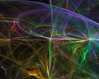 Fractal digital abstracto, ornamento mágico dinámico de la imaginación del diseño de la elegancia de la fantasía de la creat ilustración del vector