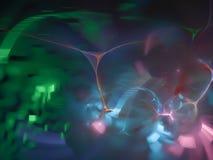 Fractal digital abstrato, dinâmica, decoração do movimento, projeto criativo do fluxo, elegância futurista ilustração do vetor