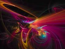 Fractal digital abstrato, elemento criativo do cartão do projeto da cor ilustração do vetor