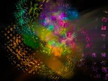 Fractal digital abstrato, fluxo do projeto da fantasia, explosão dinâmica da decoração da energia, elegância mágica festiva ilustração royalty free