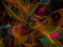 Fractal digital abstrato, fluxo do projeto, explosão dinâmica da decoração da energia, elegância mágica festiva ilustração stock