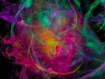 Fractal digital abstrato, projeto, explosão dinâmica da decoração, elegância mágica festiva ilustração stock